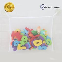 #1 Rated Bath Toy Organizer - Washable Mold Resistant Large