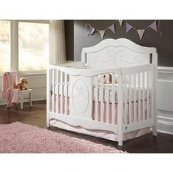 Storkcraft Princess 4-in-1 Fixed-Side Convertible White Crib