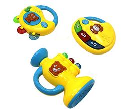 Ver-Baby 3 in 1 Musical Childrens Kids Toy Set Piano Tambour