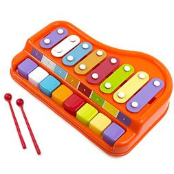 Toysery 2 In 1 Piano Xylophone for Kids, Educational Musical