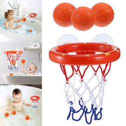 1 Set Bath Toy Basketball Hoop Suction Cup Mini Gift for Bab