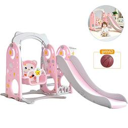 TINTON LIFE 3 in 1 Slide and Swing Set Combination of Swing