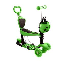 Ancheer Kids 5-in-1 Toddler Kick Scooter Baby Walker Strolle