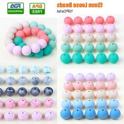 10PC 15mm Silicone Loose Beads Ball for Baby Teether Pacifie
