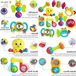 10Pcs Baby Rattles Teether Musical Early Development Toy For