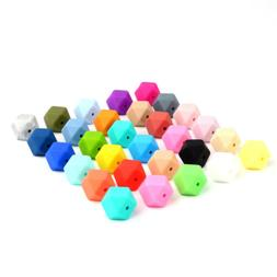 10PCs Baby Teether Teething Silicone Cube Beads for Necklace