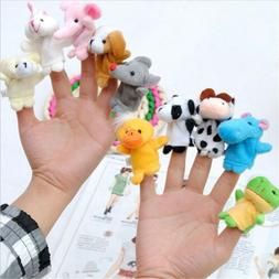10Pcs/Pack Baby Kids Finger Animal Educational Story Toys Pu