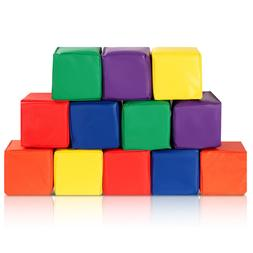 "12-Piece 5.5"" Soft Foam Building Blocks Colorful Soft Play S"