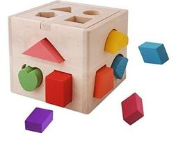 Vidatoy 13 Hole Cube for Shape Sorter Cognitive and Matching