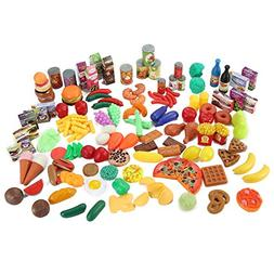 150 Piece Super Market Grocery Play Food Assortment Toy Set