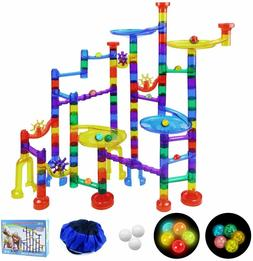 SOMAN 160Pcs Marble Run Sets for Kids, Glowing Marble Race T