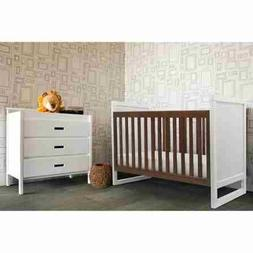 Baby Mod Modena Mod 2-Tone 3-in-1 Fixed-Side Convertible Whi