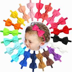 20 Baby Girl Headband Bow Grosgrain Ribbon Hair Bow Hair Ban