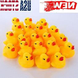 20 Pcs Squeaky Ducks Water Bathing Beach Fun Toys For Baby K