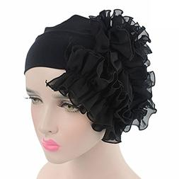 Litetao 2017 Women Flower Chemo Beanie Shower Scarf Turban H
