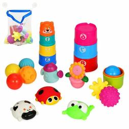 21pc Baby Bath Toys for 1 Year Old Girls/Boys Ideal Educatio
