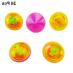 24pcs Spinning Tops Cute Mini Plastic Gyroscope Peg-top Toy