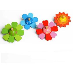 2pcs Spinning Top Toy Cartoon Flower Shape Spinning Top for