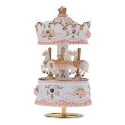 3-horse Carousel Music Box Melody Carrying You from Castle i