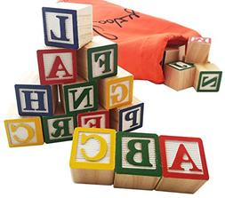 30 Alphabet Blocks with Letters Colors by Skoolzy. Wooden AB