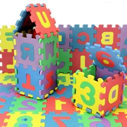 36 PCS Baby Kids Alphabet Number Foam Puzzle Mats Teaching T