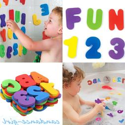 36Pcs Foam Floating Bathroom Toys For Kids Baby Bath Floats