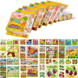 3D Animal Wooden Jigsaw Puzzles Preschool Puzzle Learning Se
