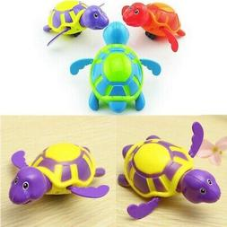 3pcs Baby Bath Toys Swim Bath Turtle Floating Water Wind Up