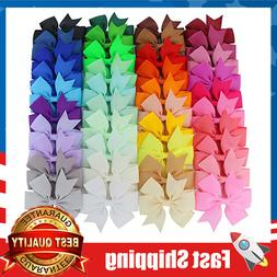 40piece boutique grosgrain ribbon pinwheel hair bows
