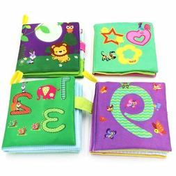 4Styles Soft Books For Baby Cultivation Developed Rustle Sou
