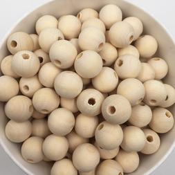 50-100PCs Natural Ball Wood Spacer Beads 6-20mm <font><b>For