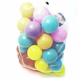 50 Plastic Soft Air-filled Pit Balls for Ball Pits, Baby Pla