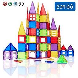 Magblock 66 PCS Magnetic Building Blocks, Magnetic Tiles Toy