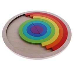 7-Color Wooden Rainbow Stacker  <font><b>Nesting</b></font>