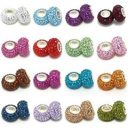 925 Sterling Silver Birthstone Spacer Bead for Charm Bracele