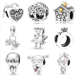 925 Sterling Silver Floral Bella Bot family tree lock <font>