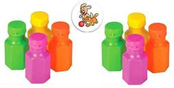 """96 Neon Bubble Bottles 1.75"""" .3 ounces and One Puppy and Kit"""