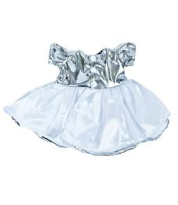 Amazing Silver Shine Dress Teddy Bear Clothes Outfit Fits Mo