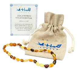 Amber Teething Necklace for Babies  - Anti Flammatory, Drool