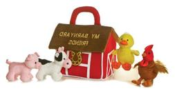 """Plush Baby 6"""" My Barnyard Friends Carrier with Sound"""