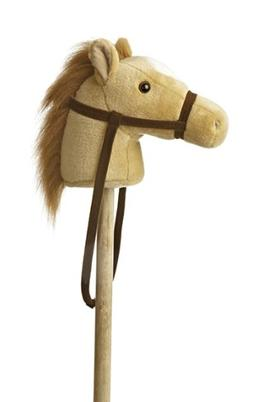 "Aurora World World Giddy-Up Stick Horse 37"" Plush, Beige"