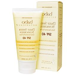 Babo Botanicals, 40 SPF Daily Sheer For Face Sunscreen, 1.7