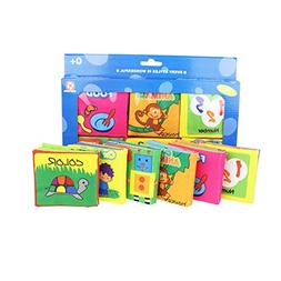 Baby's First Non-Toxic Fabric Book Soft Cloth Book Set- Sque