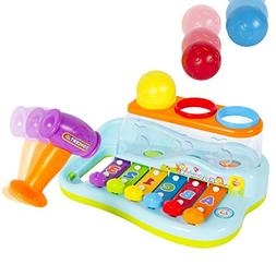 Best Choice Products Kids Musical Rainbow Xylophone Piano Po
