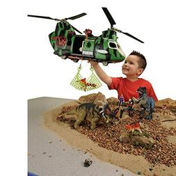CP Toys 32 pc. Dinosaur Research Playset with Helicopter and