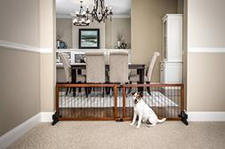 Carlson 68-Inch Wide Adjustable Freestanding Pet Gate, Premi