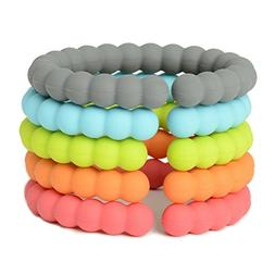 Chewbeads - Baby Silicone Links. Baby Safe 100% Silicone Rin