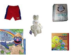 "Children's Gift Bundle - Ages 0-2  Includes: Baby Blanket ""B"