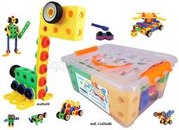 Creative Builder Set 85 pcs included 4 wheels, For 3+ old