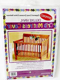 """Deluxe Vinyl Fitted Crib Mattress Cover 28"""" x 52"""" Standard S"""